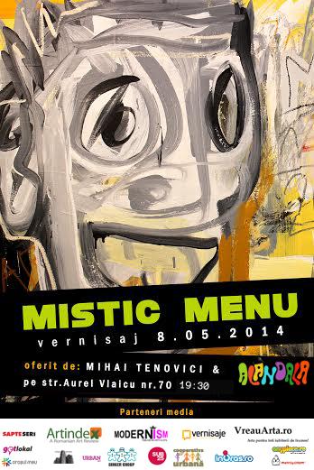 """Mihai Țenovici """"Mistic Menu"""" @ Alandala Cafe – Art Gallery, București"""