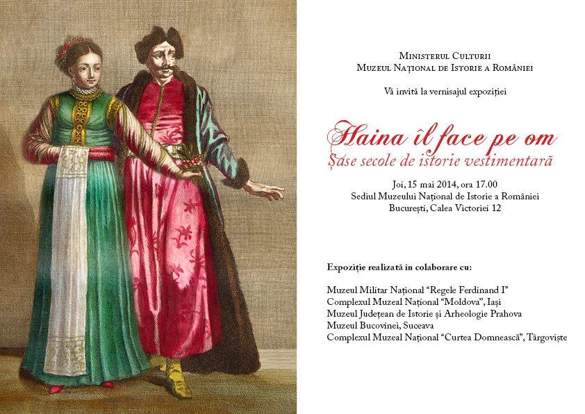 """""""Haina îl face pe om. Șase secole de istorie vestimentară"""" @ Muzeul Național de Istorie a României, București"""