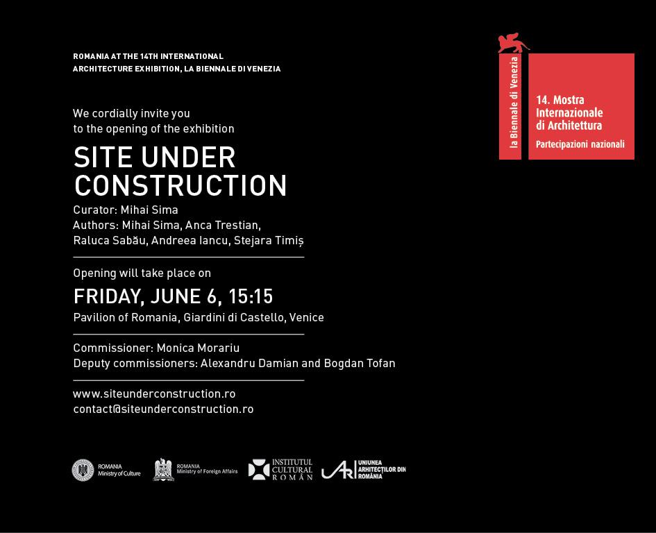 Participarea României la cea de-a 14-a Expoziţie Internaţională de Arhitectură – la Biennale di Venezia