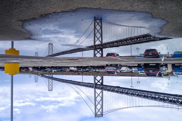 Photos of San Francisco As Seen Through Puddle Reflections