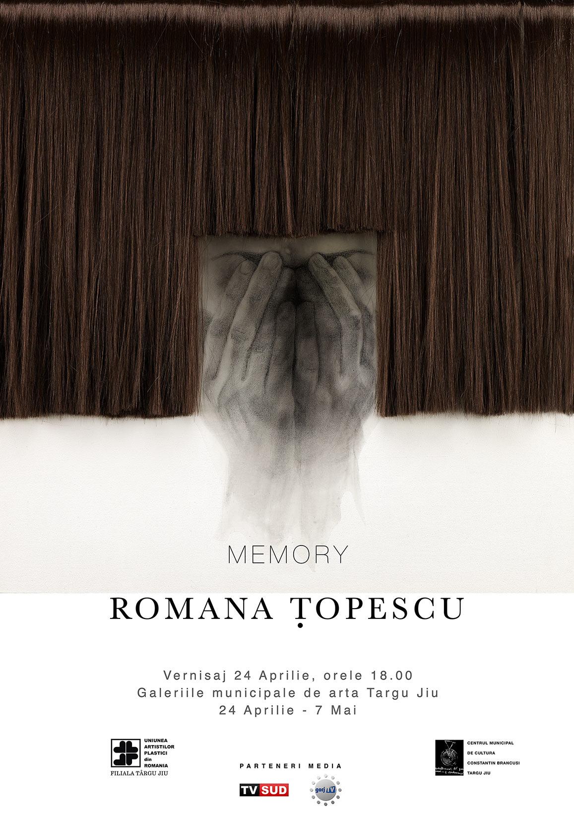 """Romana Țopescu, """"Memory"""" @ Galeriile Municipale de Artă Târgu Jiu"""