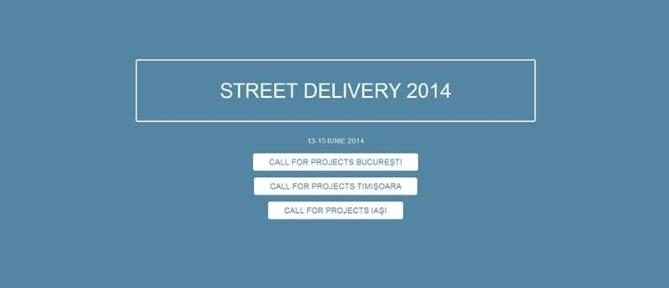 Ultima săptămână de înscrieri la Street Delivery 2014