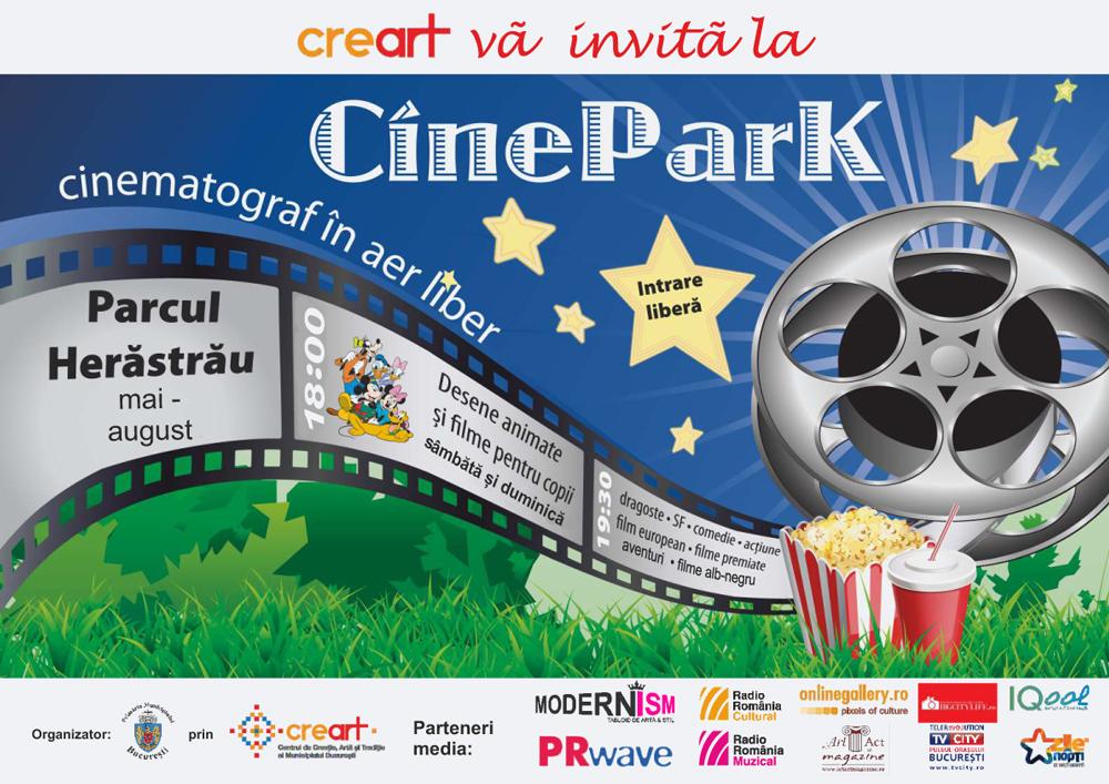 Proiecții de filme la CineParK @ toată vara în Parcul Herăstrău