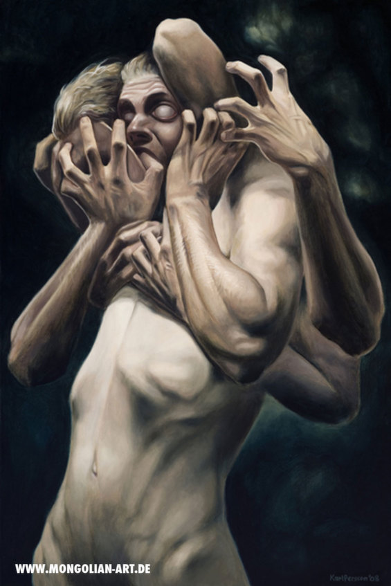 Karl Persson's Grotesque Paintings Explore The Darkest Corners Of The Human Mind