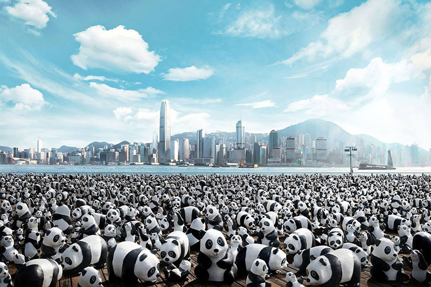 Each Paper Panda Represents One Of Only 1,600 Left In The Wild