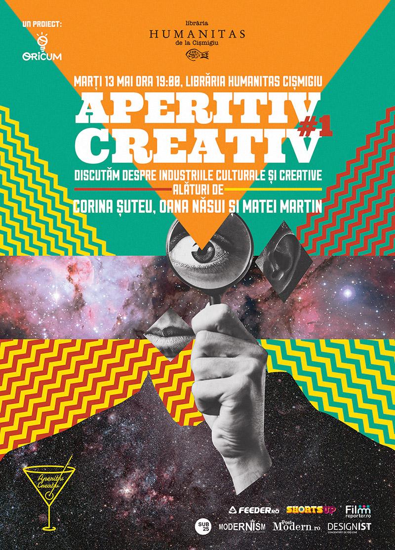 Aperitiv Creativ – dezbateri relaxate despre industriile culturale şi creative @ Librăria Humanitas Cişmigiu, București