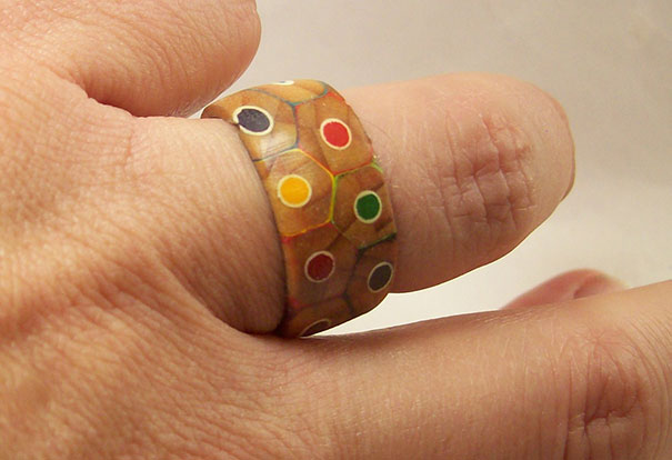 A Pack Of Colored Pencils Turned Into A Beautiful Ring