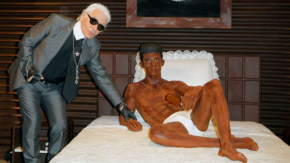 Karl Lagerfeld Builds A Life-Size Chocolate Statue Of Model