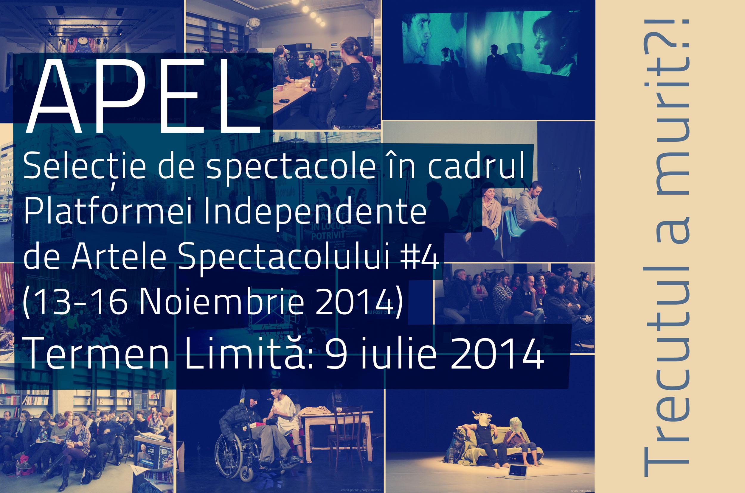 Selecţie de spectacole în cadrul Platformei Independente de Artele Spectacolului #4 by Asociația Colectiv A si CNDB