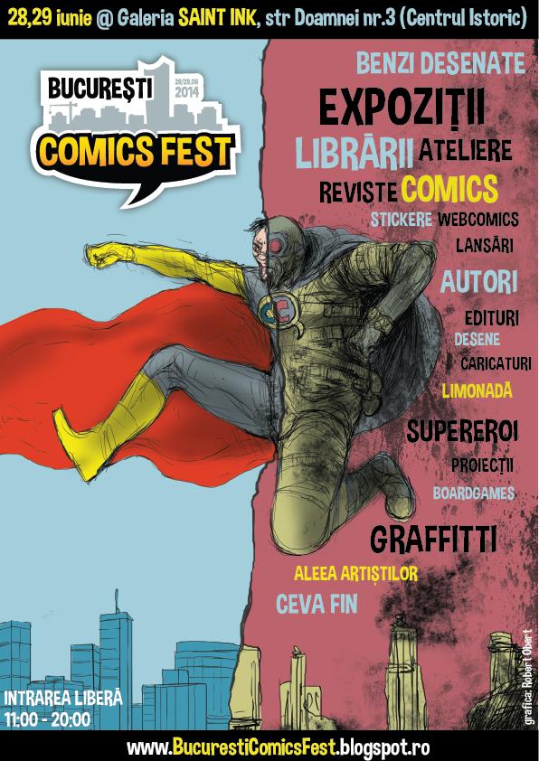 Bucuresti ComicsFest 2014 @ Galeria Saint Ink, București