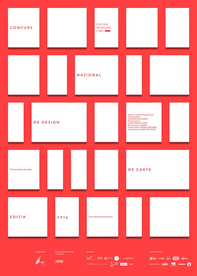"""Concursul naţional de design de carte """"Cele mai frumoase cărţi din România"""" 2014"""
