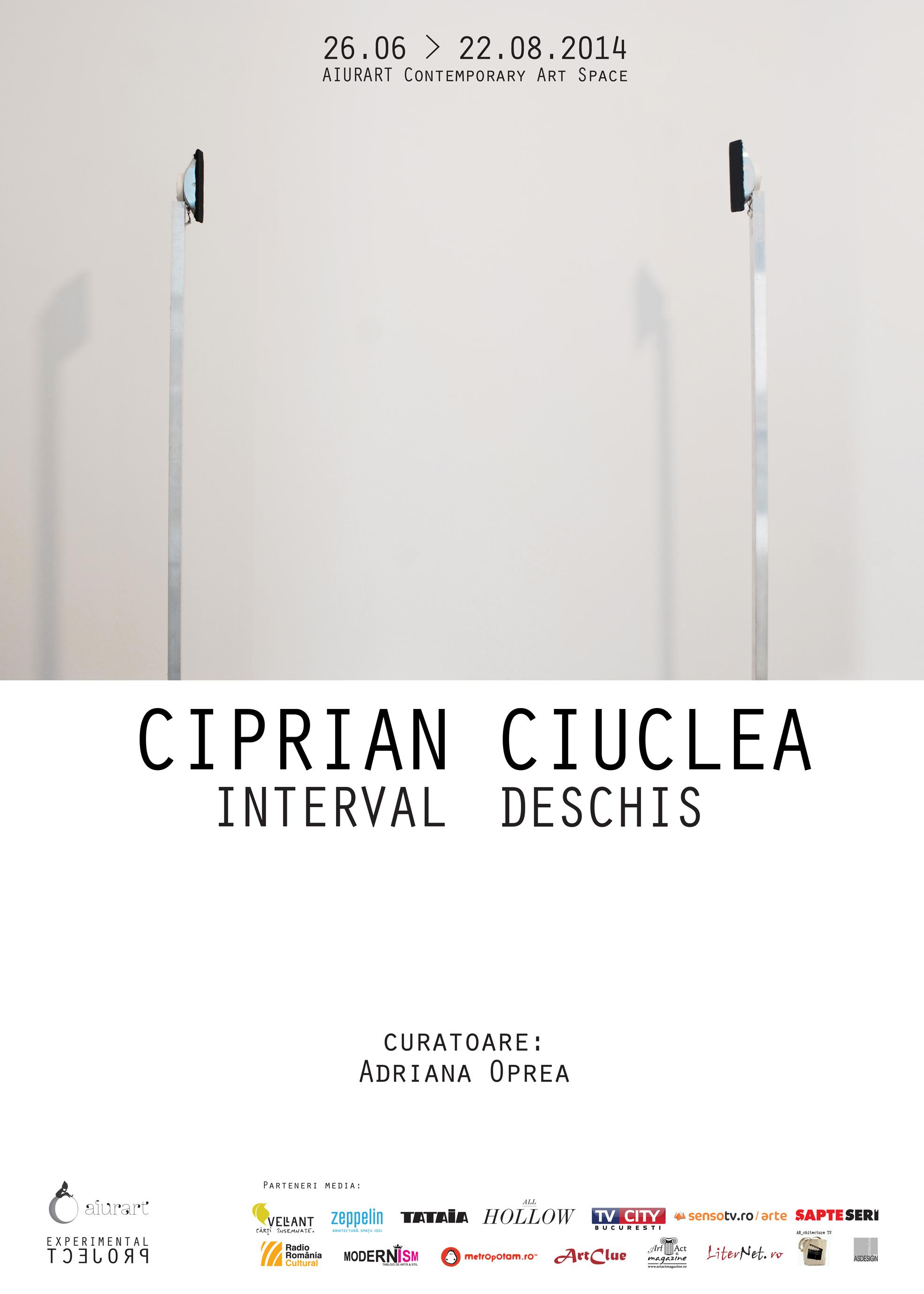 """Ciprian Ciuclea """"Interval deschis"""" @ Aiurart, București"""