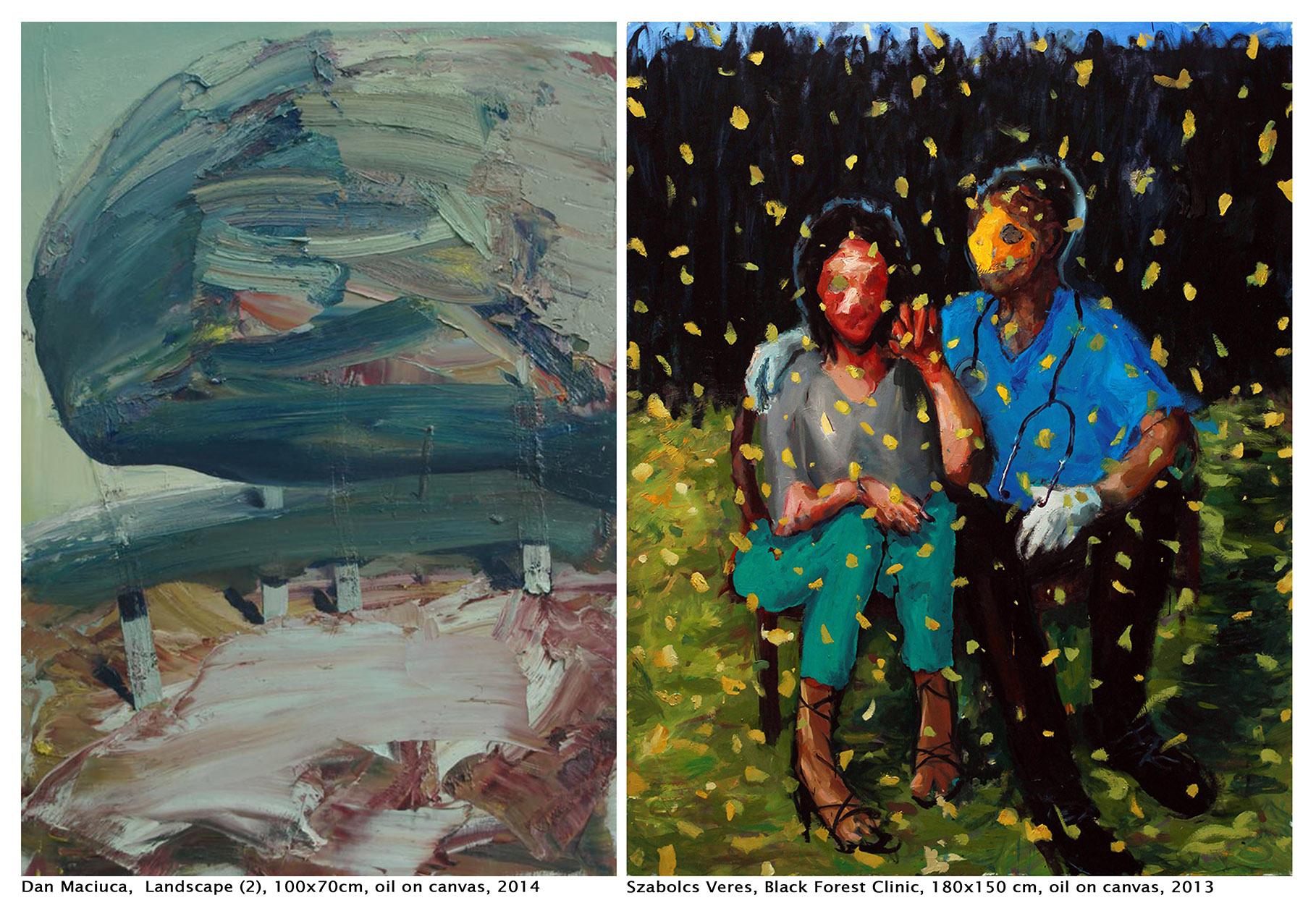 "Dan Măciucă & Veres Szabolcs ""The Flesh of Things. Un-painting the Romantics"" @ Galeria Jecza, Timişoara"