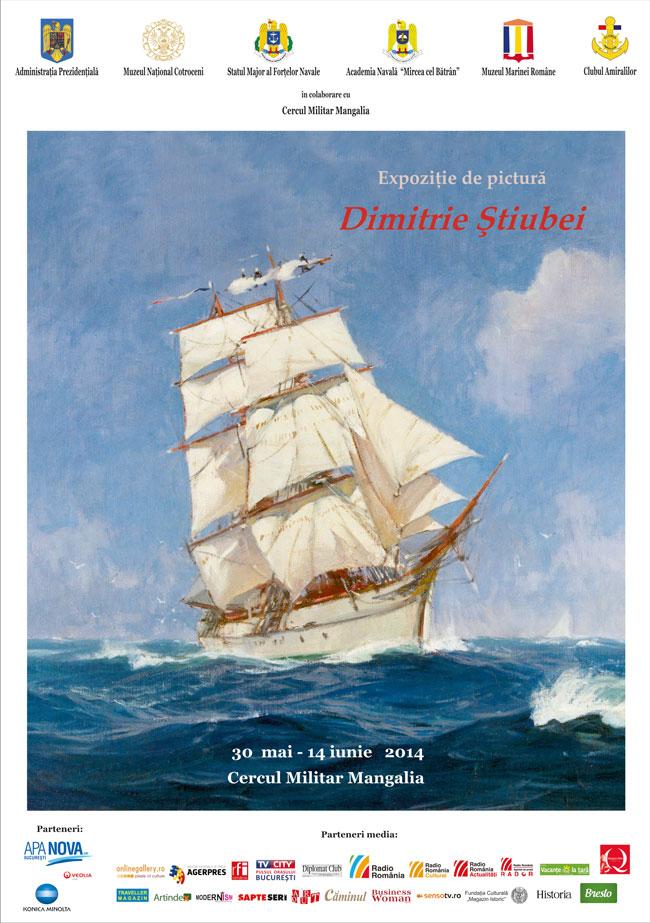 Expoziţie de pictură Dimitrie Ştiubei a Muzeului Naţional Cotroceni la Cercul Militar Mangalia