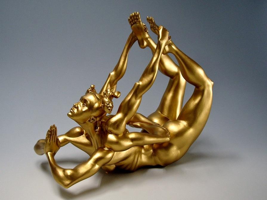 Painted fibreglass anatomical sculptures by Masao Kinoshita