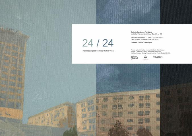 24/24 Instalaţie expoziţională de Rodica Grosu @ Galeria Benjamin Fondane, Institutul Francez Iași