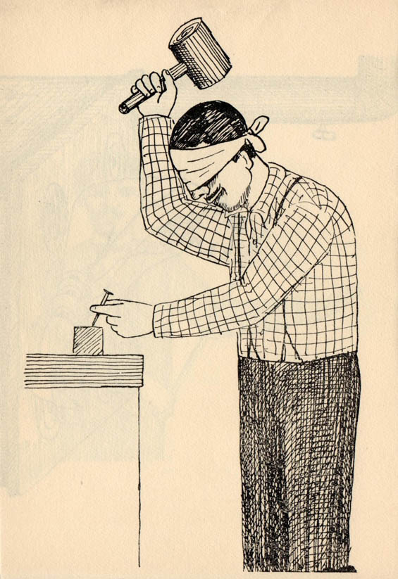 Illustrations From 1960s Book Depict People In Absurd Masochistic Situations