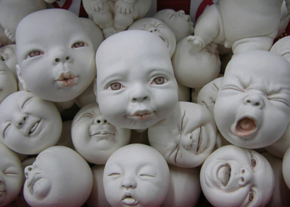 Johnson Tsang's Surreal Sculptures Of Frightening Babies