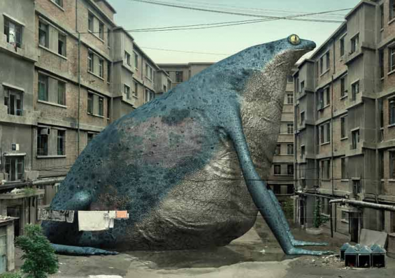 Liu Di's Massive Photoshopped Animals Bring Attention To Beijing's Urban Ruins