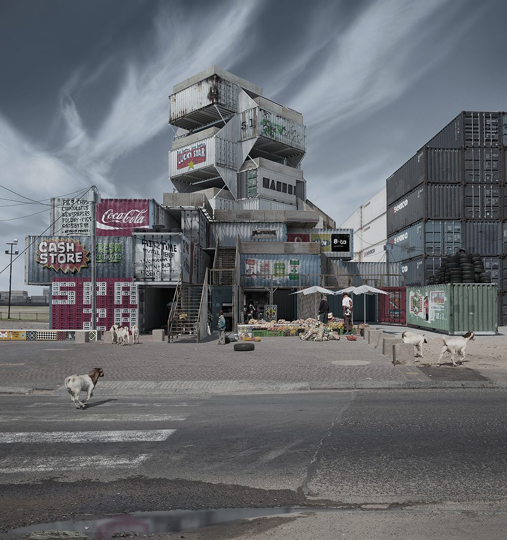 Justin Plunkett Assembles Unusual Buildings In Desolate And Forgotten Landscapes