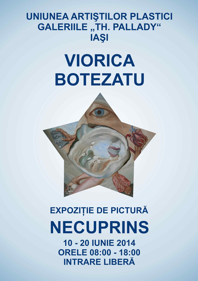 """Viorica Botezatu """"Necuprins"""" @ Galeria Th. Pallady, Iași"""