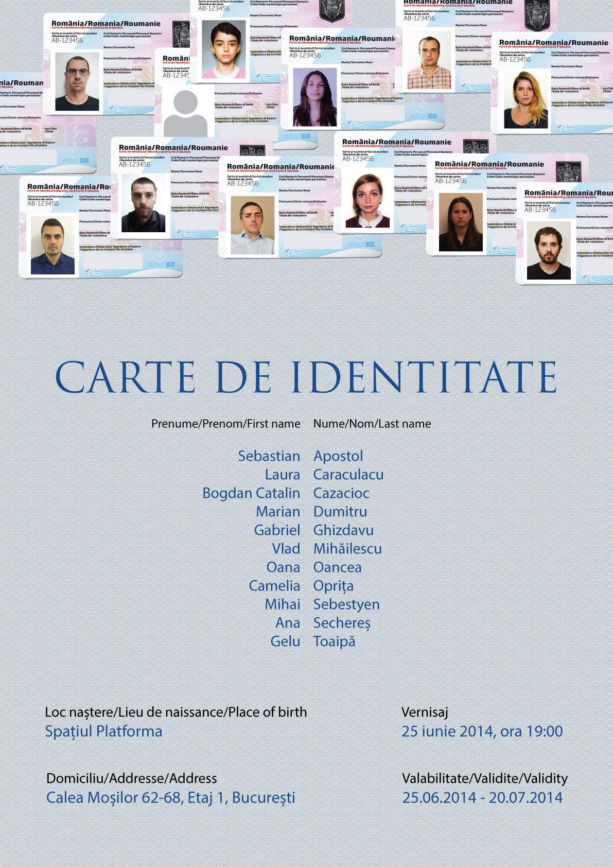 Carte de Identitate – licenta 2014