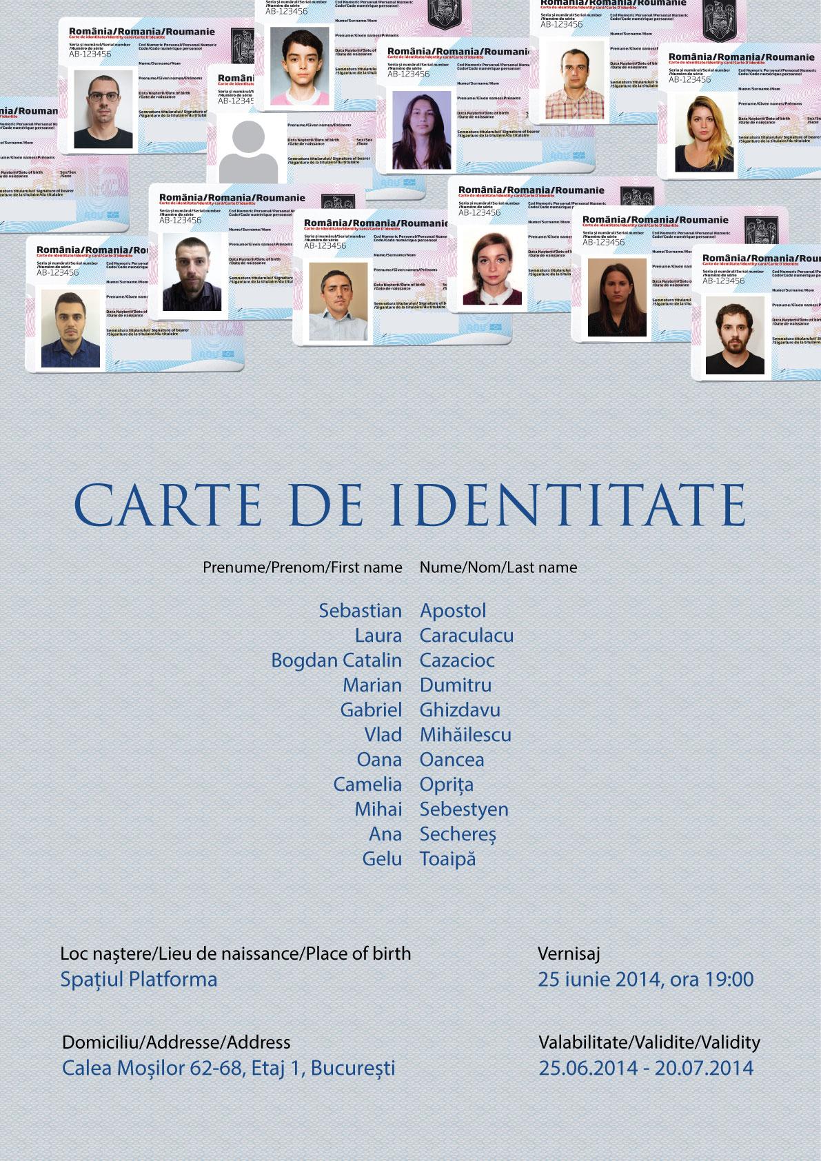 Carte de identitate @ Spațiul Platforma, MNAC, București