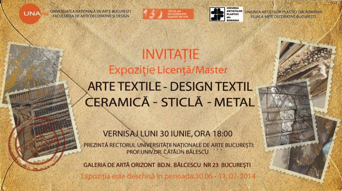 Licenţă/MasterARTE TEXTILE – DESIGN TEXTIL @ Galeria Orizont