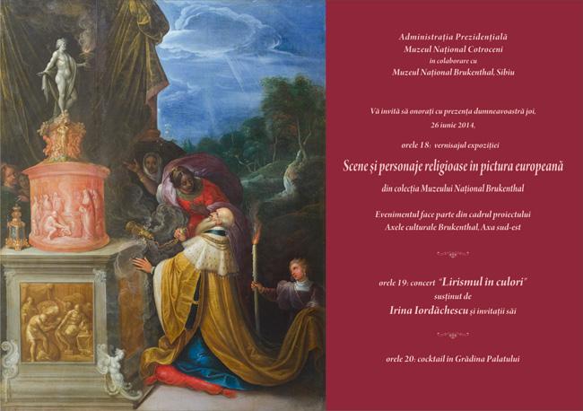 Expoziţie de pictură europeană cu scene şi personaje religioase, din colecţia Muzeului Naţional Brukenthal, expuse la Muzeul Naţional Cotroceni