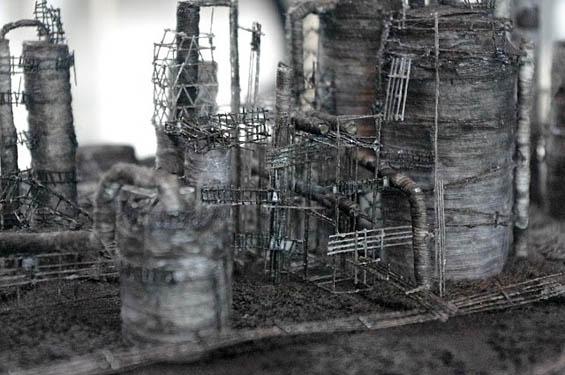 Miniature Scenes of Industrial Japan Sculpted Using Human Hair