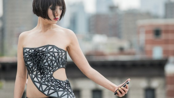 Introducing The 3D Printed Dress That Turns Transparent When You Use Social Media