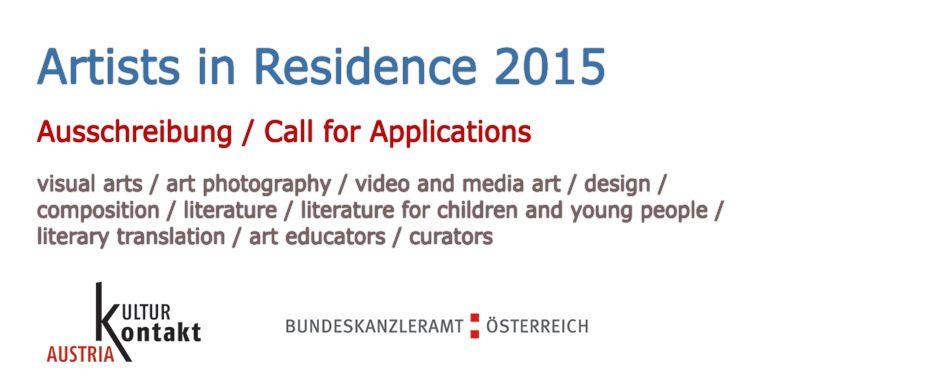 Înscrieri pentru programul Artist-in-Residence 2015