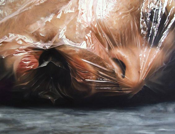 Gruesome, Hyperrealist Oil Paintings Of Hacked Up Body Parts By Fábio Magalhães