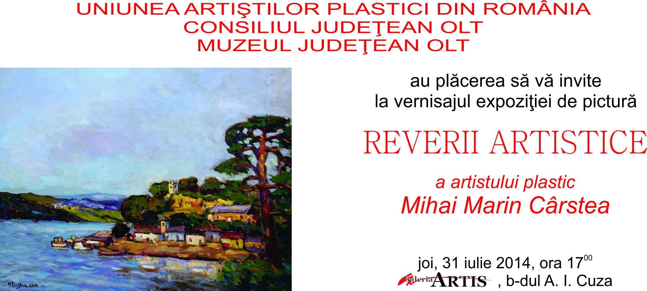 """Mihai Marin Carstea – """"Reverii Artistice"""""""