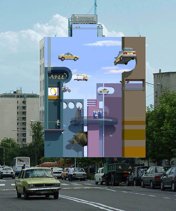 Eye-Deceiving Murals Turn Streets Of Iran Into An Optical Illusion Gallery