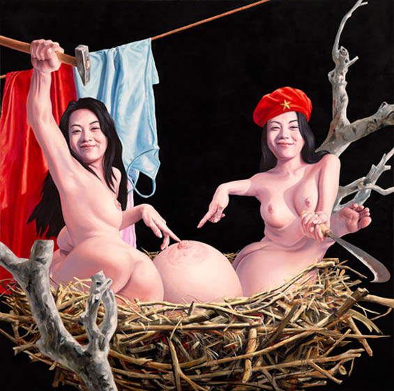 Disturbing Aftereffects Of Vietnam War Depicted In The Sexually Charged Paintings Of Nguyen Xuan Huy
