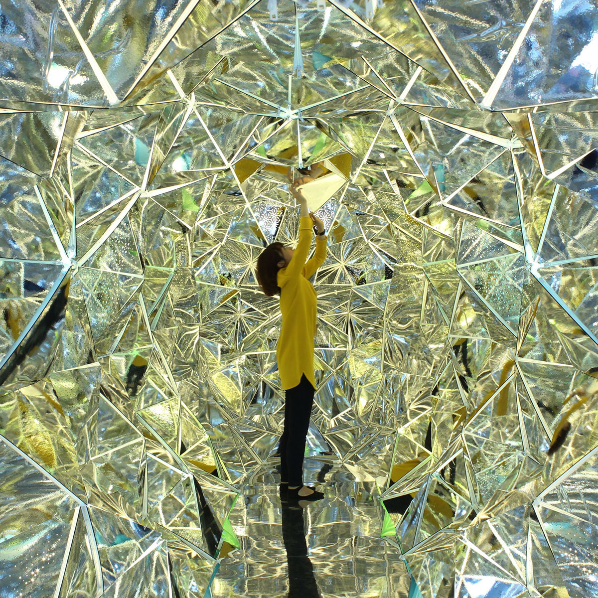 A Gigantic Kaleidoscope within a Shipping Container by Masakazu Shirane