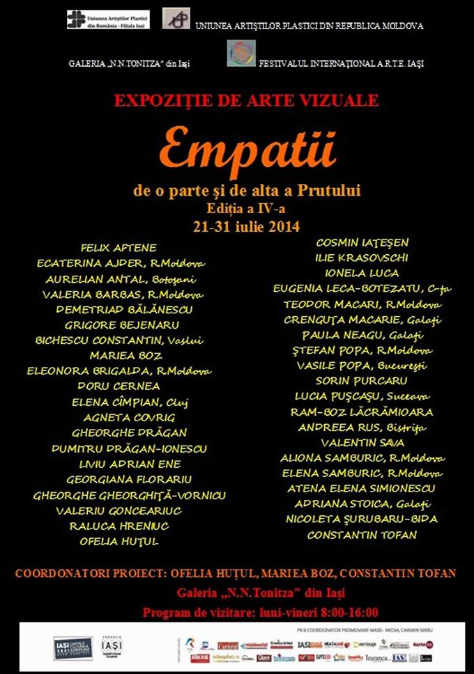 """Expoziția colectivă """"Empatii"""" @ Galeria de artă """"N. N. Tonitza"""" din Iași"""