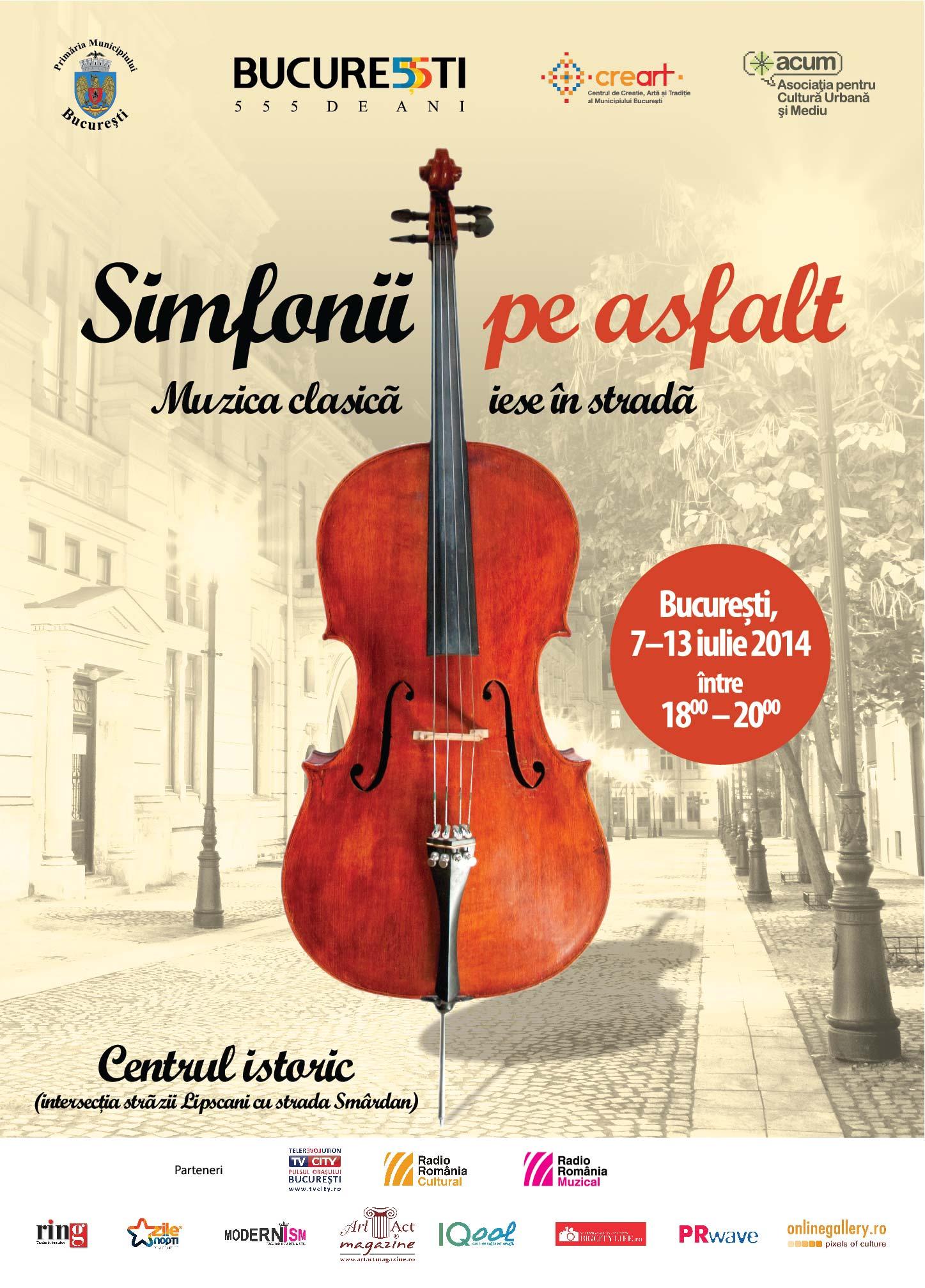 Muzică instrumentală clasică în stradă la București: Simfonii pe asfalt