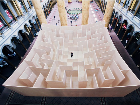 Big Maze Installation Reveals Its Path The Further You Wander Into It