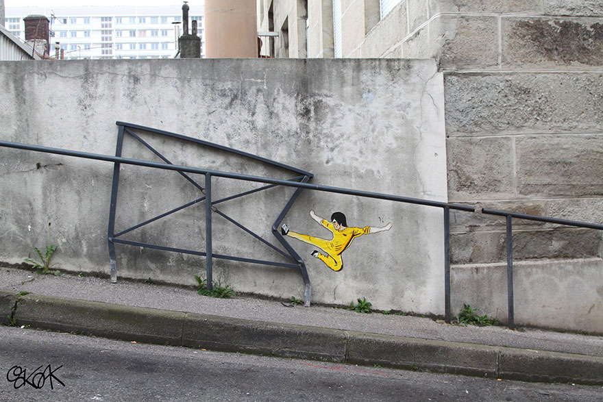 24 More Clever And Playful Street Art Ideas By OakOak