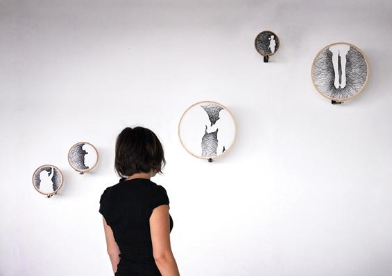 Nastasja Duthois' Embroidered Silhouettes