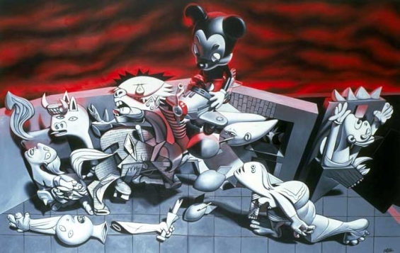 Ron English's Pop Culture Guernica Interpretations