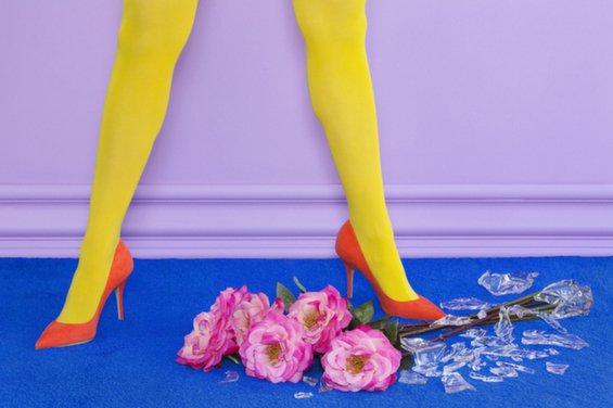 Ramona Rosales's Electric Photographs Of Women Below The Knees Explode With Color
