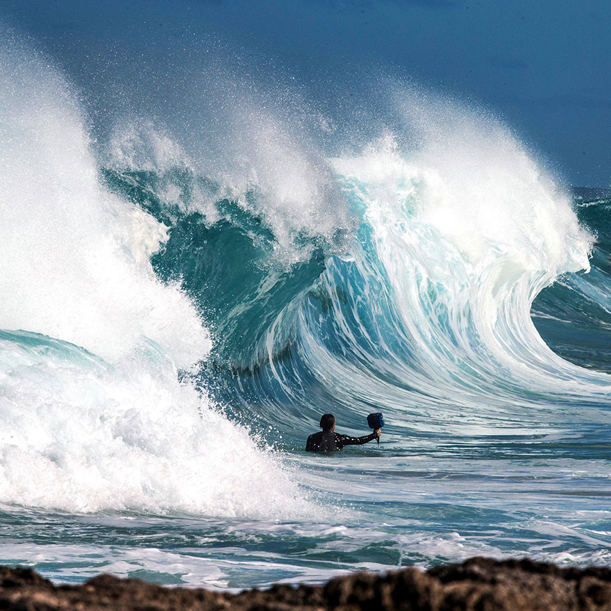 Photographer Dives Into Crashing Waves To Capture Their Raw Power From Within