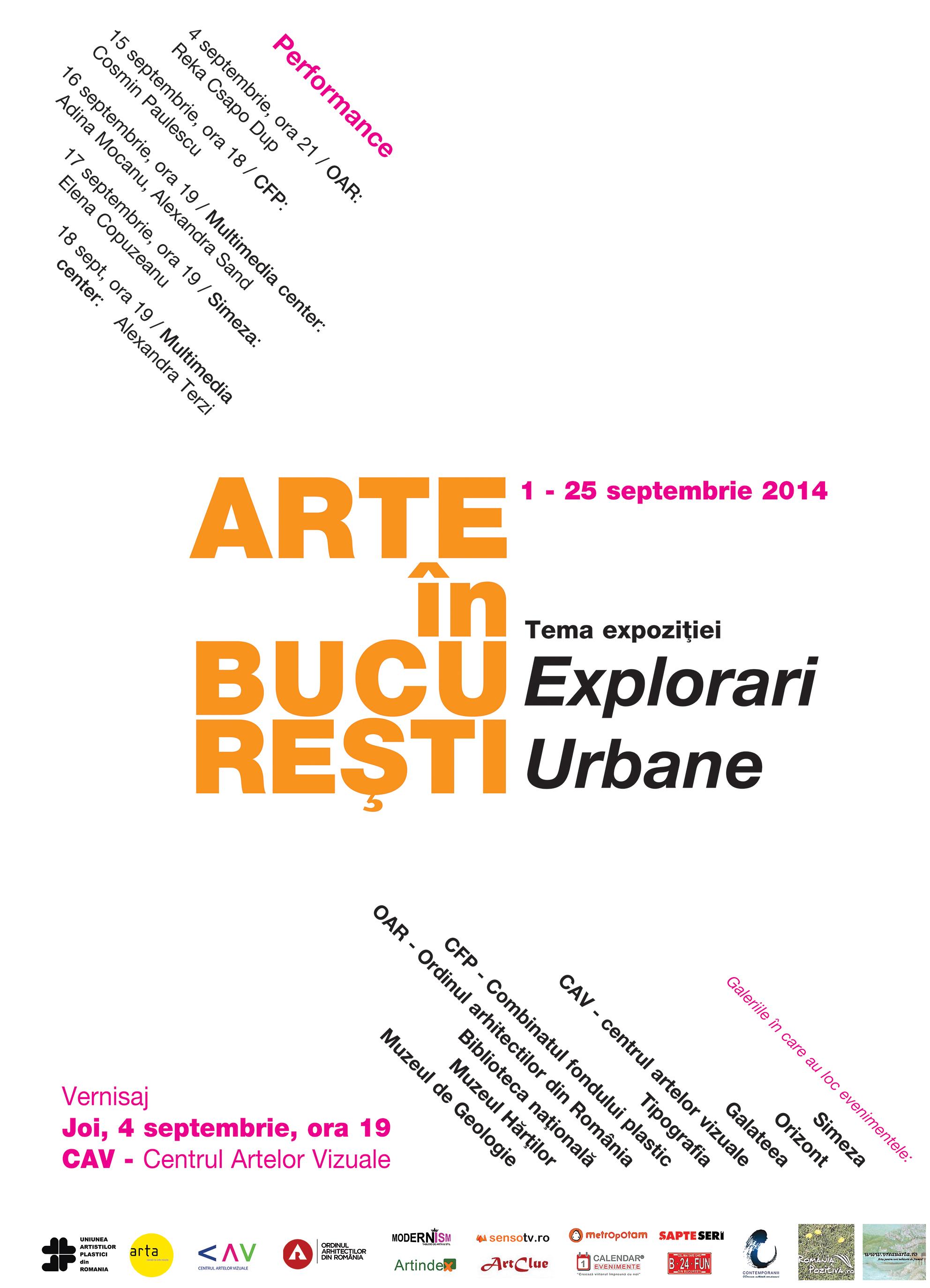 """ARTE ÎN BUCUREŞTI  ediţia a V a """"Explorări urbane"""""""