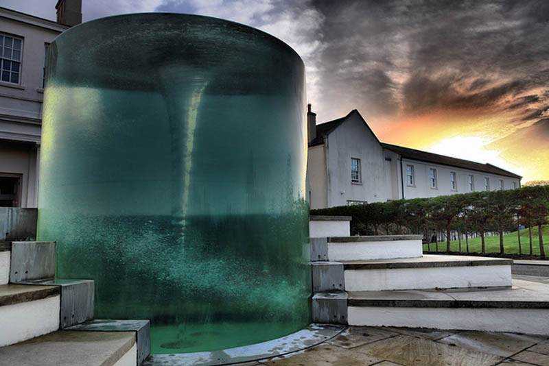Awesome Vortex Water Sculpture by William Pye in UK