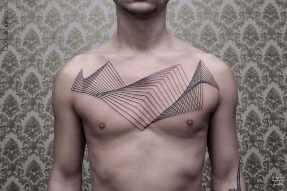 Chaim Machlev's Stunning Op-Art And Geometric Tattoos