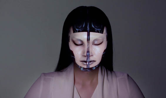 Mind Blowing Real-Time CGI Transforms A Models Face Into A Futuristic Canvas
