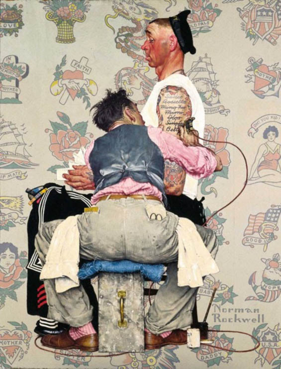 Norman Rockwell's Reference Photos For His Iconic Paintings Revealed